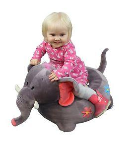 Plush Elephant Sofa Riding Chair (Grey), Baby & Toddler by Low Cost Gifts