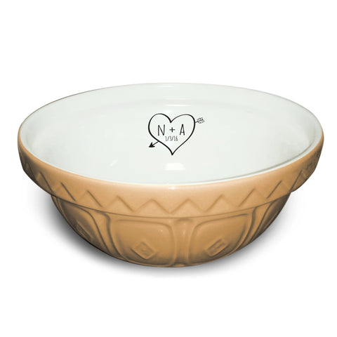 Sketch Heart Mixing Bowl