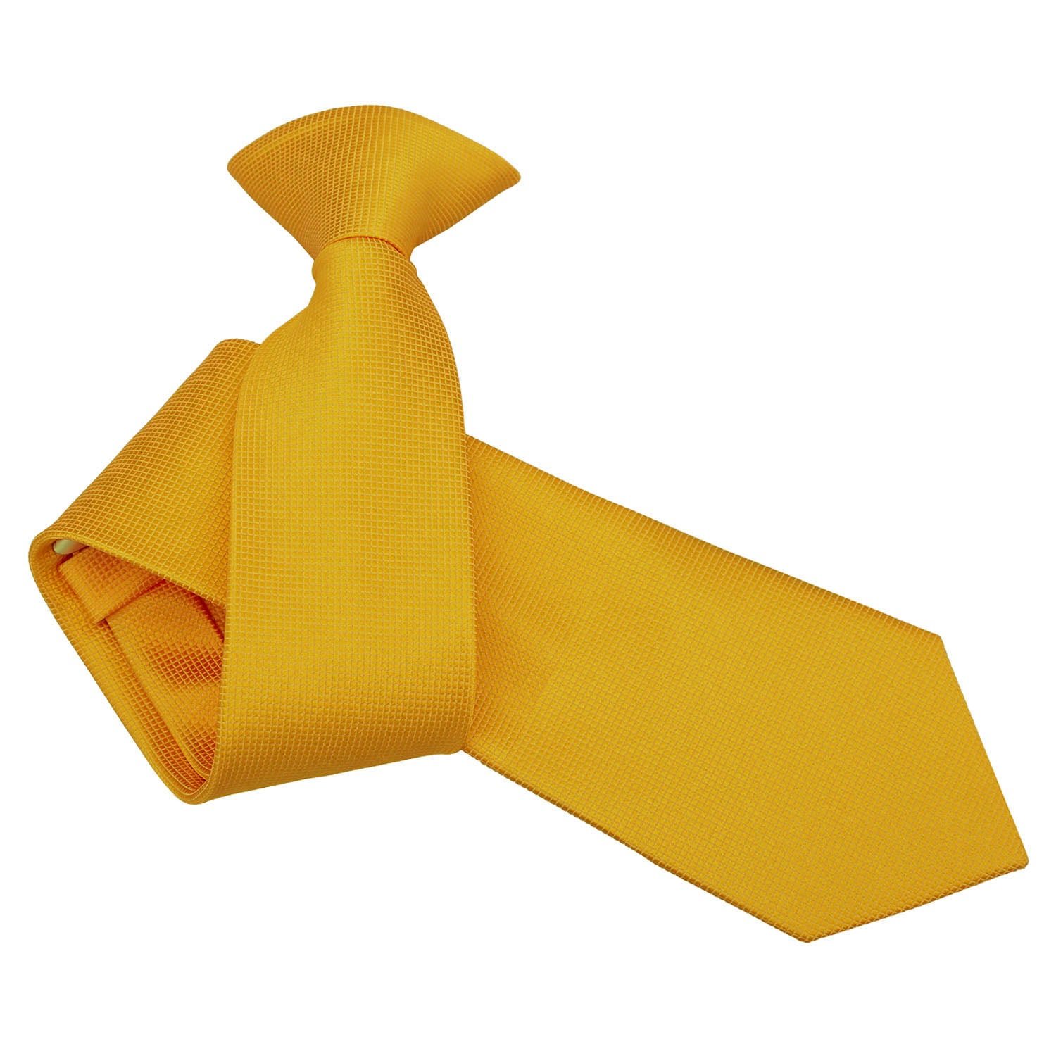 Solid Check Clip On Slim Tie - Sunflower Gold, Clothing & Accessories by Gifts24-7
