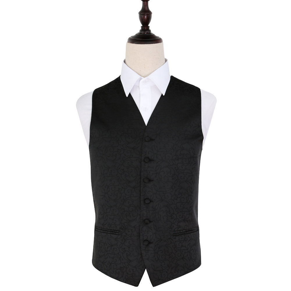 Swirl Waistcoat - Black, 40', Clothing by Low Cost Gifts
