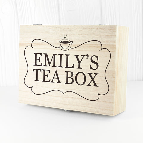 Tea Box With Name - Shane Todd Gifts UK