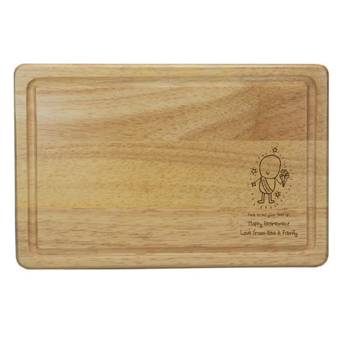 Chilli & Bubbles Retirement Rectangle Wooden Chopping Board
