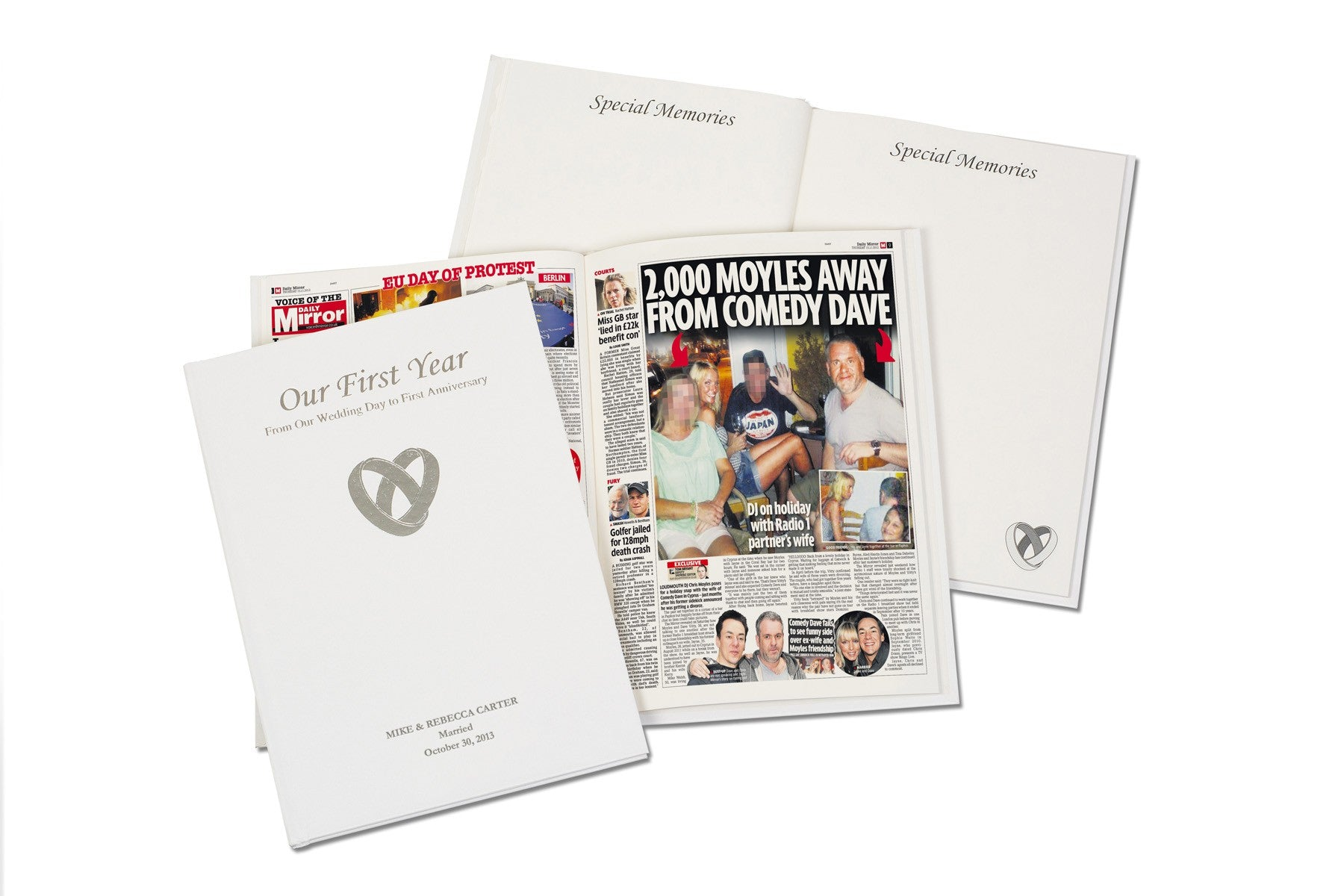 Our First Year - Wedding / 1st Anniversary Book, Media by Low Cost Gifts