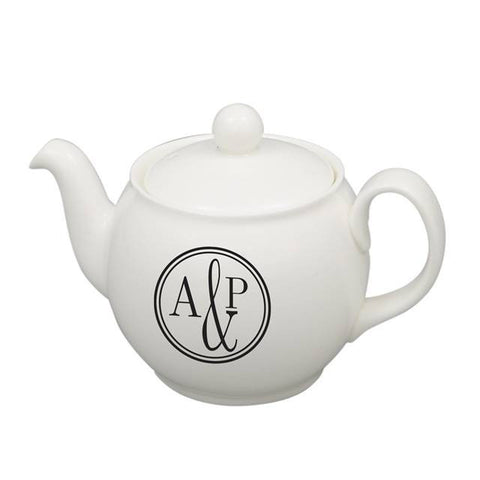 Monogram Circle Teapot - Shane Todd Gifts UK