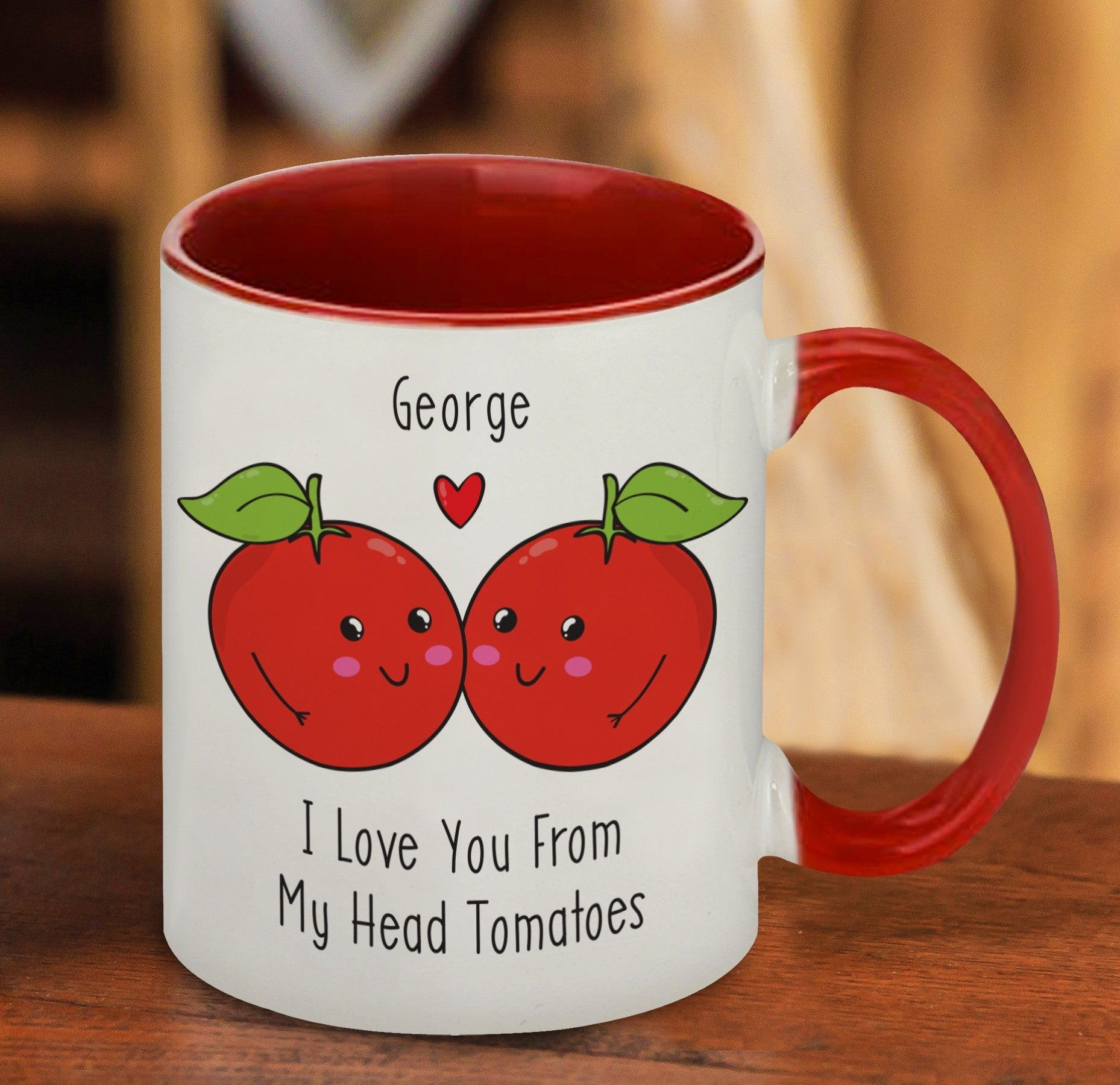 I Love You From My Head Tomatoes Mug, Kitchen & Dining by Gifts24-7