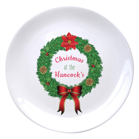 "Traditional Wreath 8"" Plate"