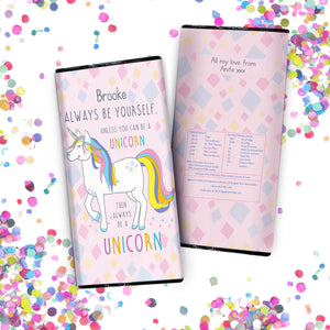 Always Be A Unicorn Chocolate Bar - A perfect gift for UNICORN lovers!