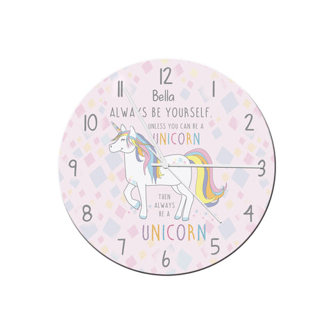 Always Be A Unicorn Clock- A perfect gift for UNICORN lovers! - Shane Todd Gifts UK