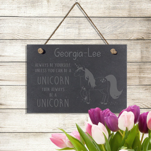 Always Be A Unicorn Slate Sign- A perfect gift for UNICORN lovers! - Shane Todd Gifts UK