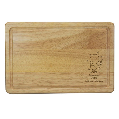 Chilli & Bubble's Congratulations Rectangle Wooden Chopping Board