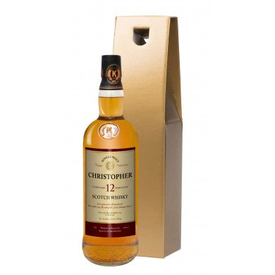 Personalised Valentine's Day 12 Year Old Malt Whisky, Whisky by Low Cost Gifts