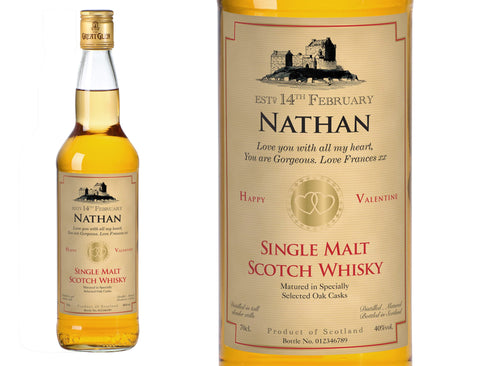 Valentine's Day Personalised Single Malt Whisky