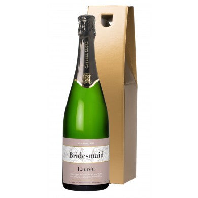 buy Wedding Swirls Cava in a Gold Gift Box