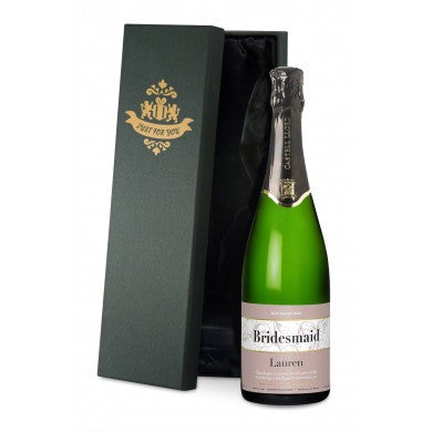 Wedding Swirls Cava in a Silk Lined Gift Box - Shane Todd Gifts UK