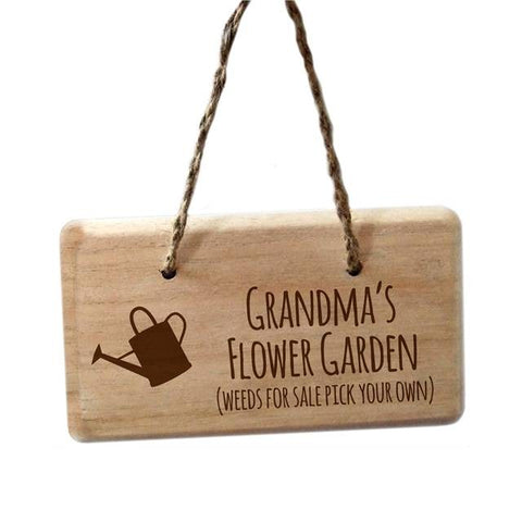 Personalised Weeds For Sale Garden Sign