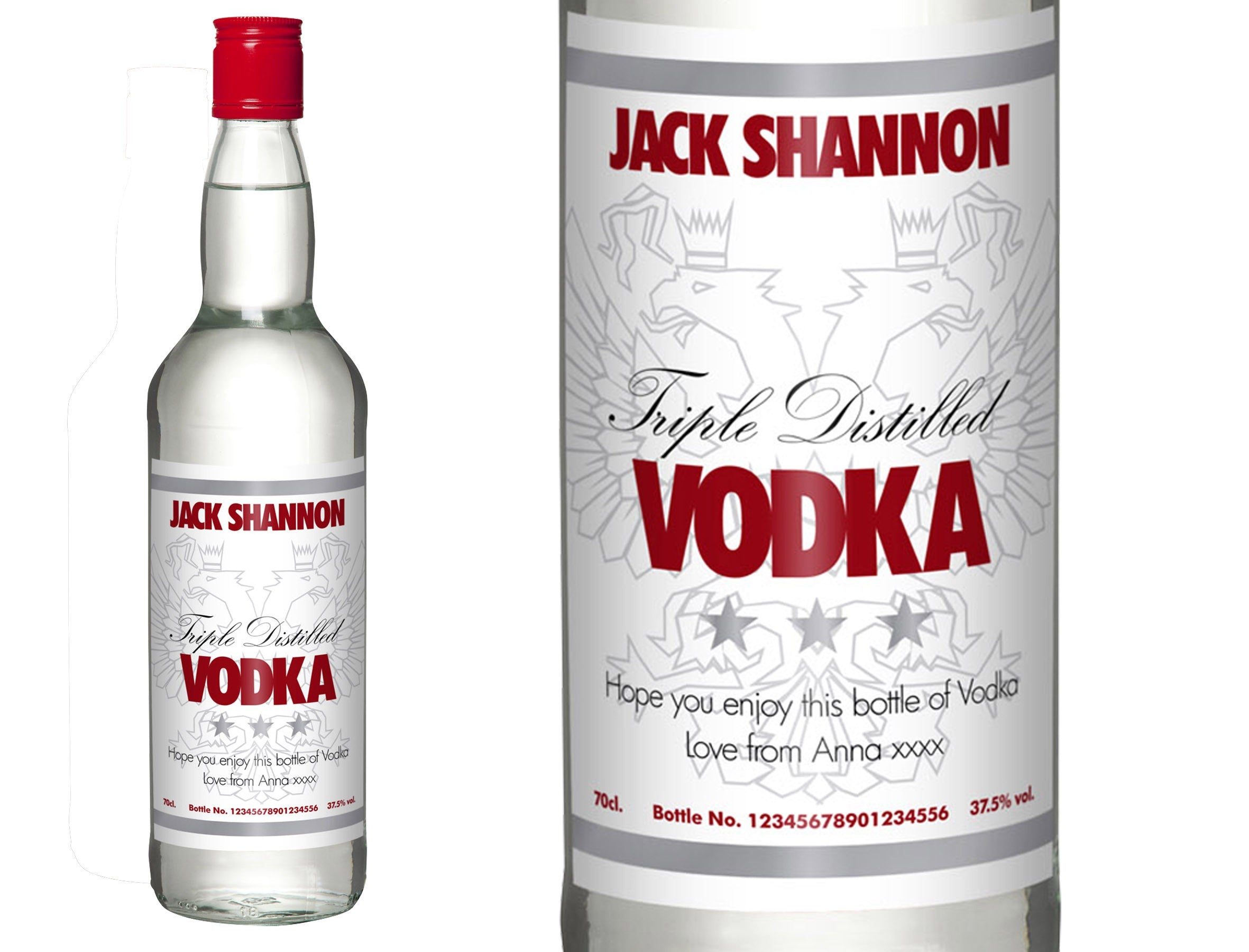 White Personalised Vodka, Beverages by Low Cost Gifts