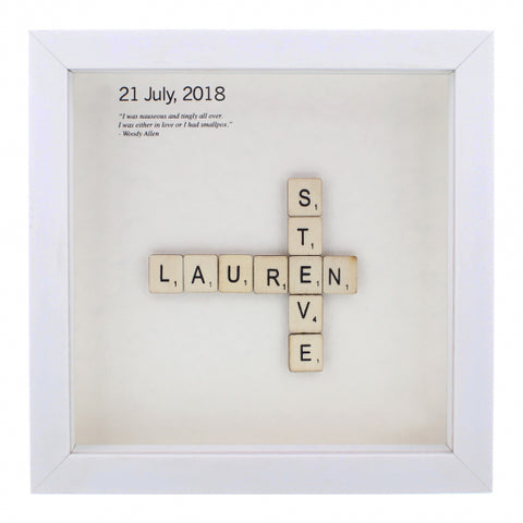 Personalised hand finished - 'Wooden Letter Tiles'