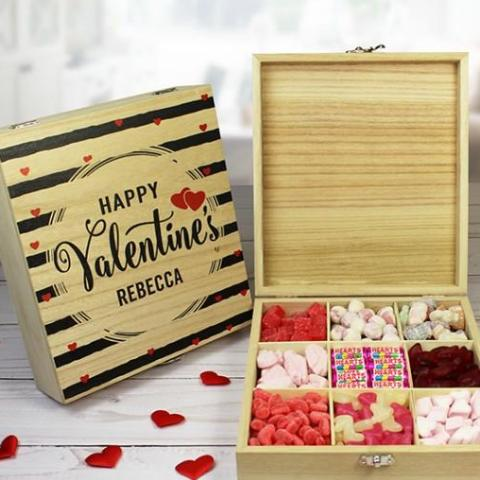 Wooden Sweet Box - Valentine, Food Items by Low Cost Gifts