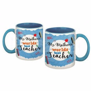 World's Best Teacher Blue Mug