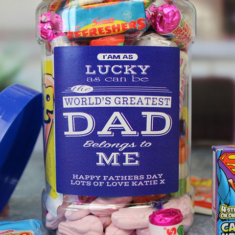 Worlds Greatest Dad Sweet Jar