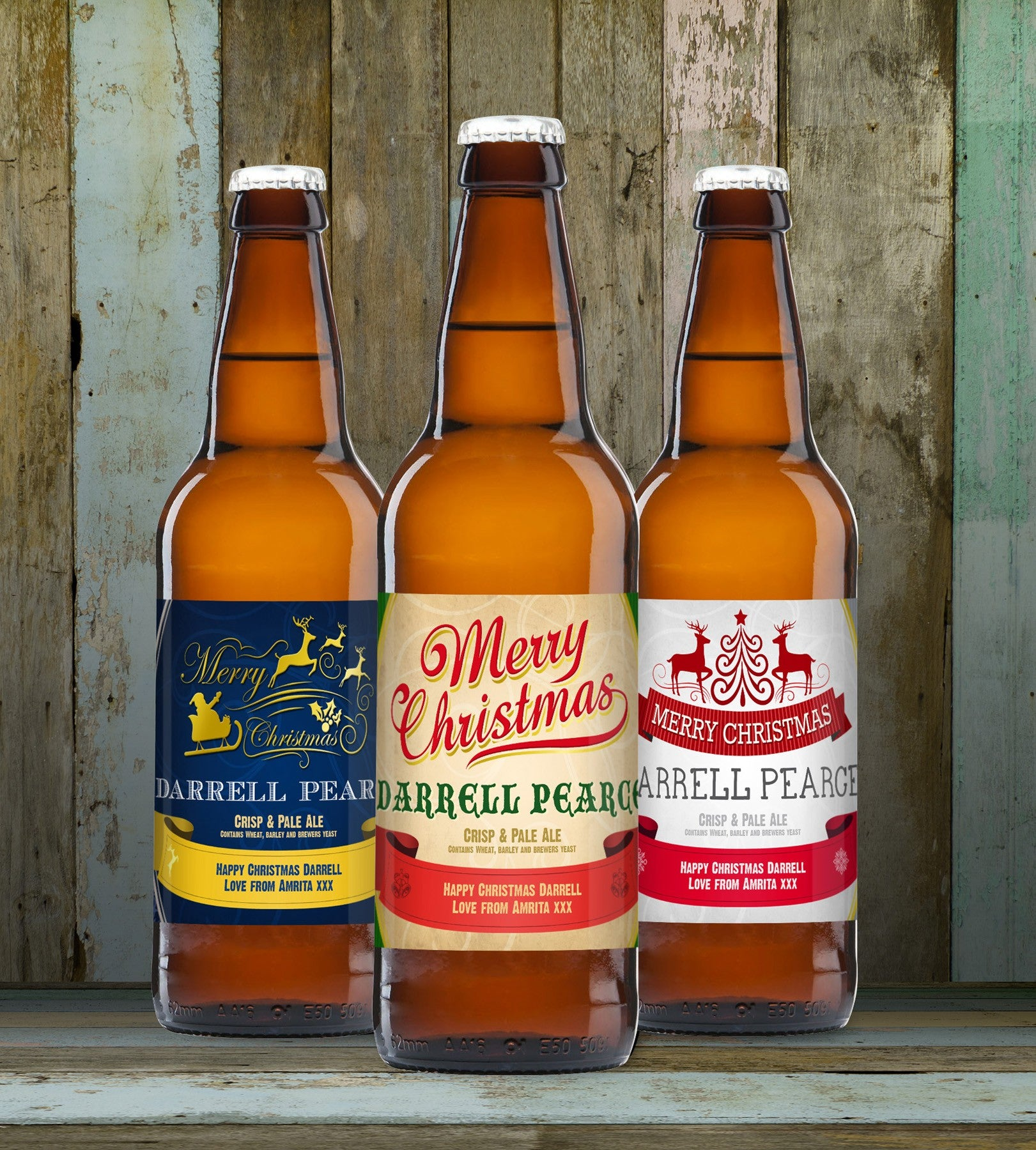 Christmas Set of 3 Beers, Beverages by Low Cost Gifts