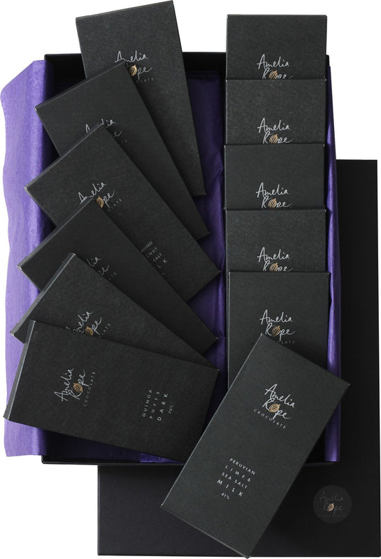 Amelia Rope Chocolate - Luxury Colombian Chocolate Bars - Gift Set