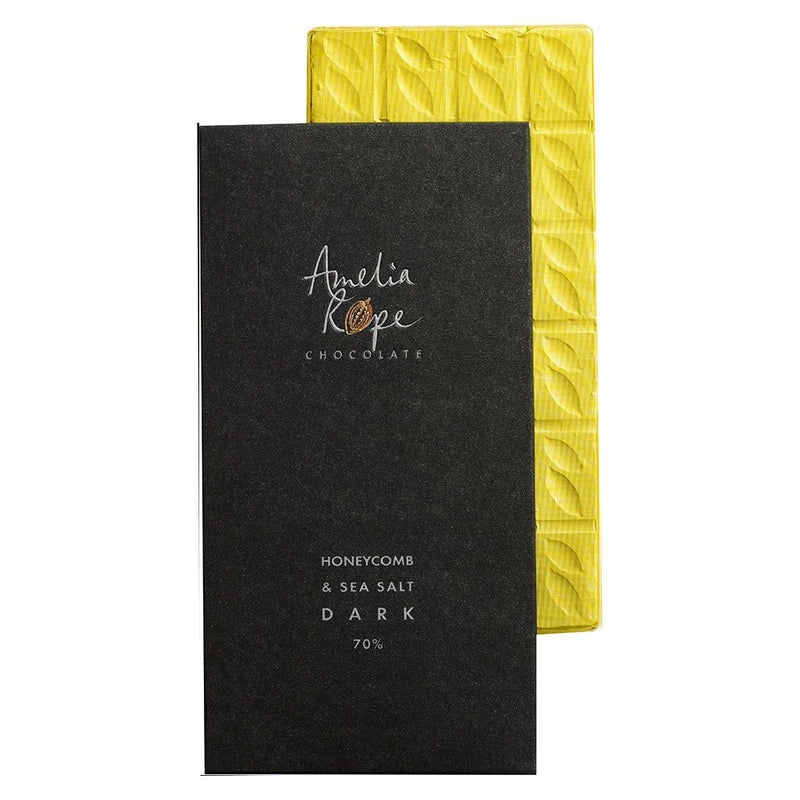 Amelia Rope Chocolate - Dark Colombian Chocolate with Honeycomb & Sea Salt