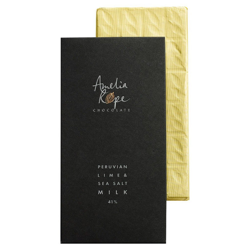 Peruvian Lime & Sea Salt Milk Chocolate Bar 41%