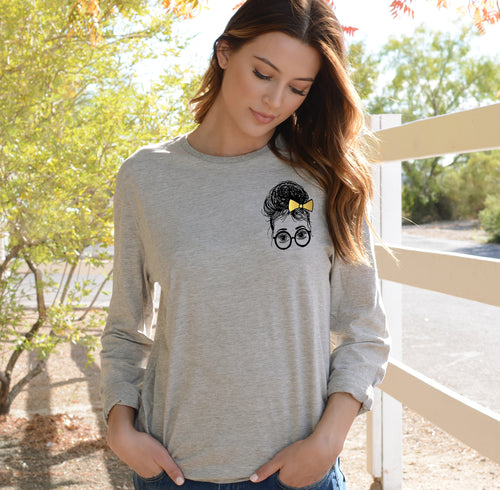 Ashley Soft Long-Sleeve Tee, Girls in Glasses