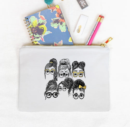 Collage Clutch Bag, Girls in Glasses
