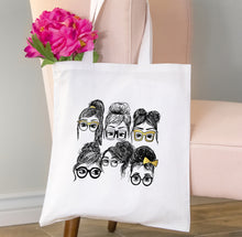 Collage Tote Bag, Girls in Glasses