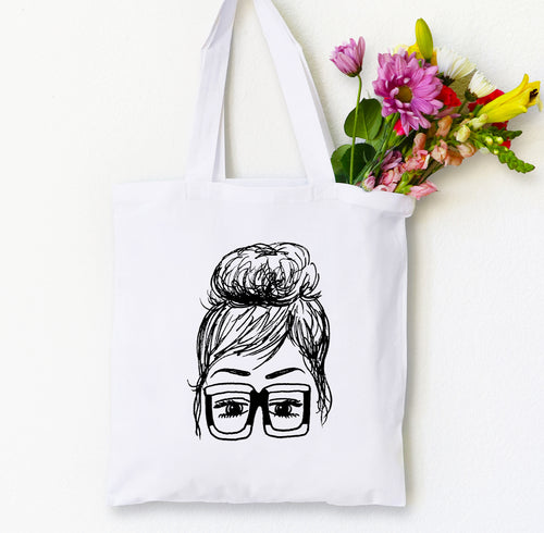 Jackie Tote Bag, Girls in Glasses