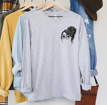 Nicole Soft Long-Sleeve Tee, Girls in Glasses