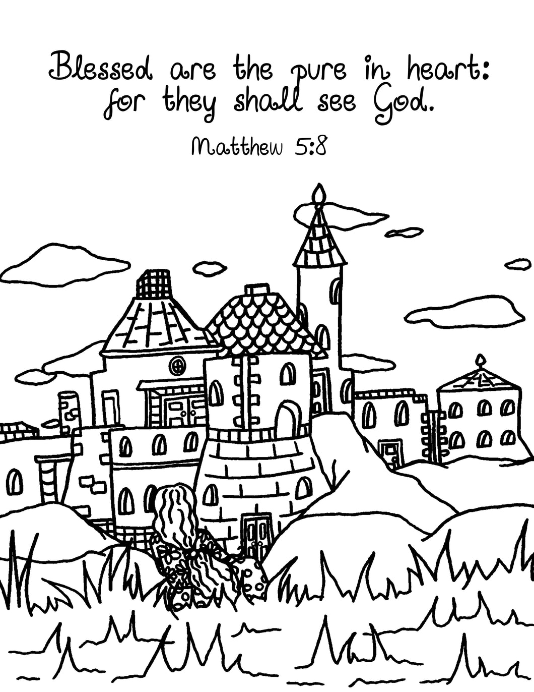 Pure in Heart Coloring Page