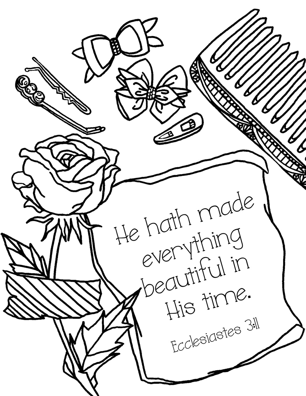 Beautiful Time Coloring Page