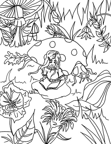 Planted Seeds Coloring Page