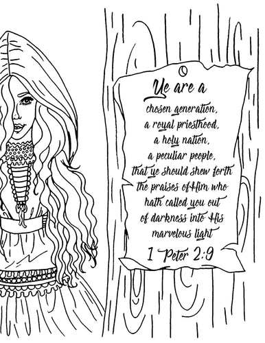 Ye Are Chosen Coloring Page