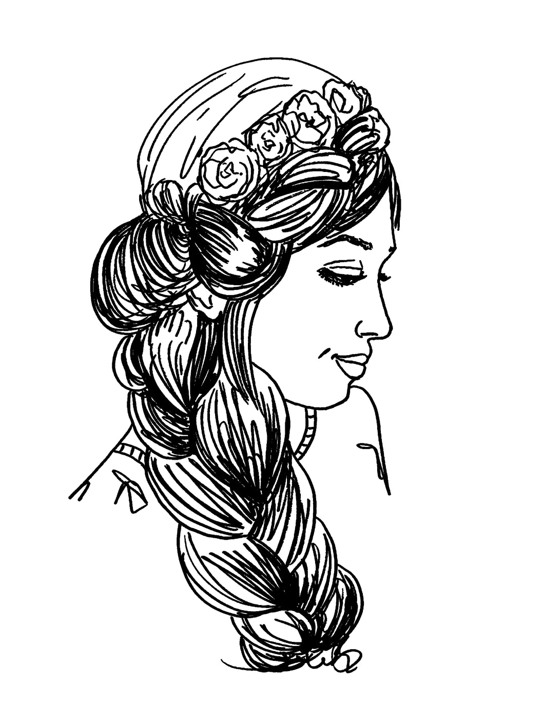Princess Braid Coloring Page
