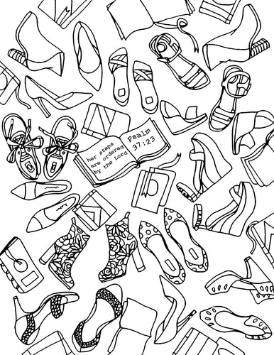 Order My Steps Coloring Page
