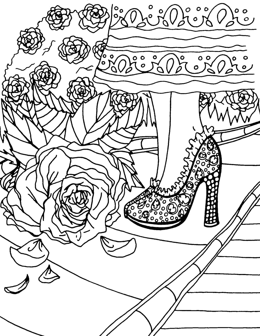 He Walks With Me Coloring Page