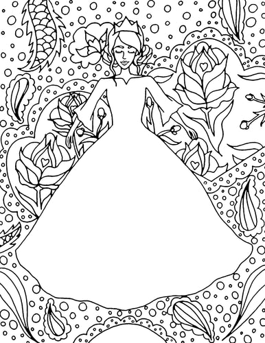 Design A Princess Dress #2 Coloring Page