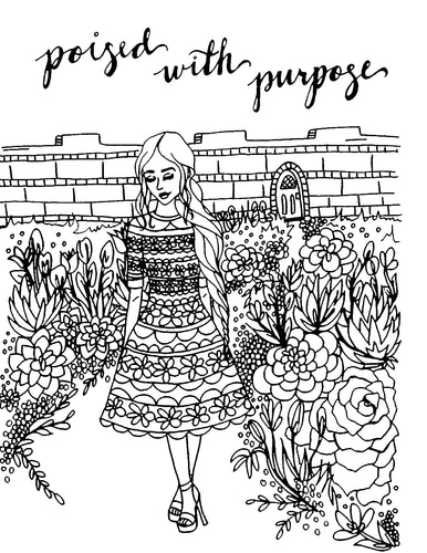 Poised with Purpose Coloring Page