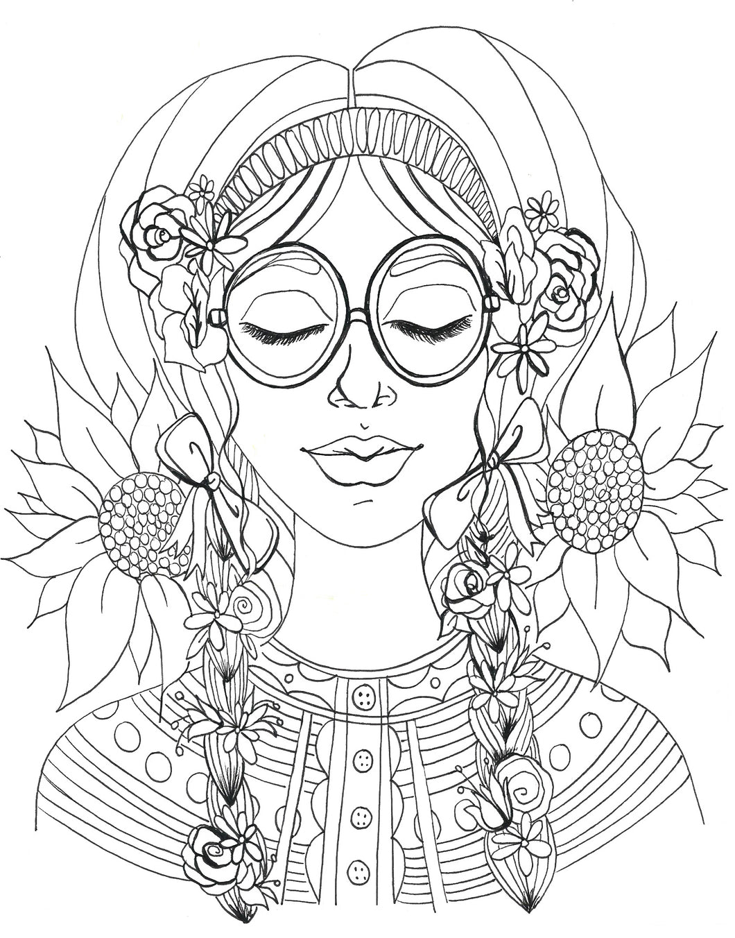 Sunflower Dreams Coloring Page