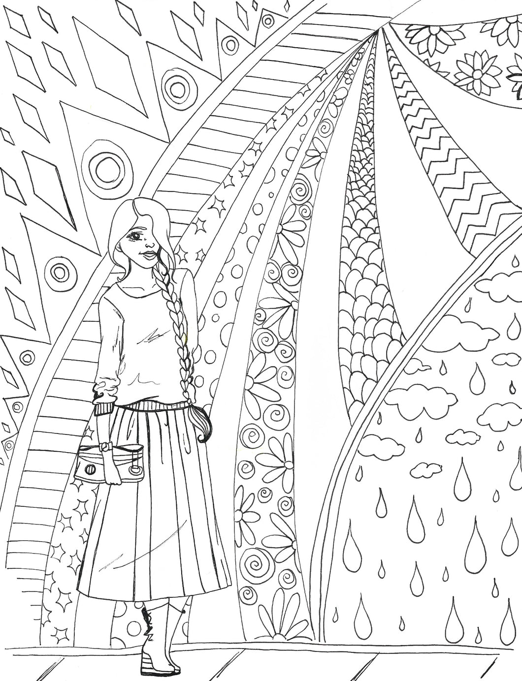 Modest Memorial Coloring Page
