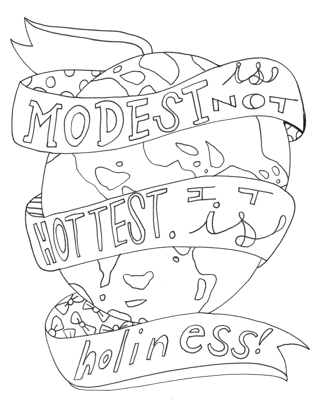 Holiness Quote Coloring Page