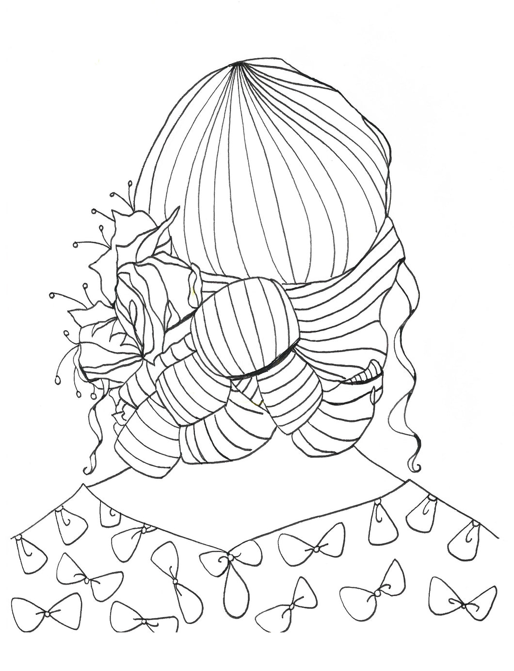 Sweet Bows Coloring Page