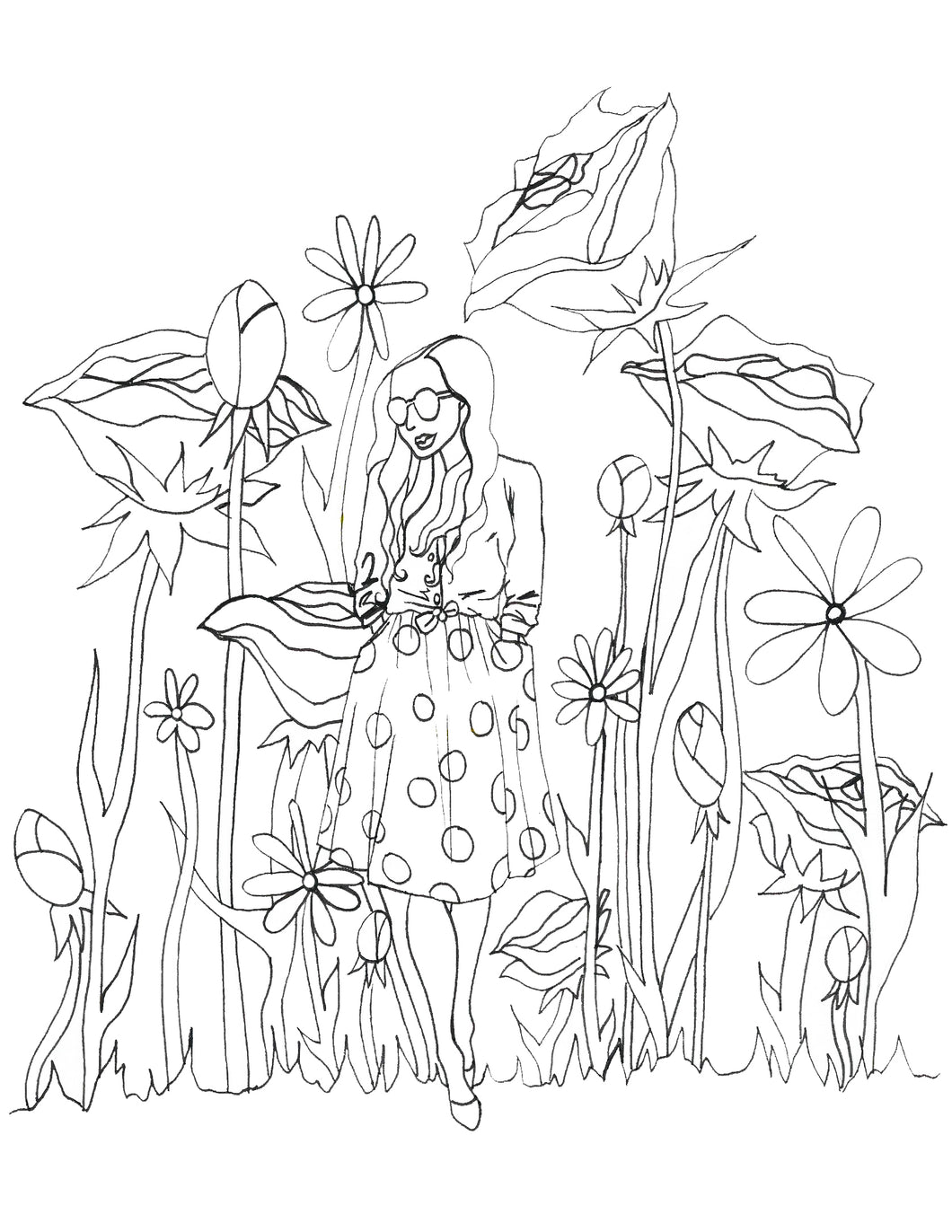 Larger than Life Coloring Page
