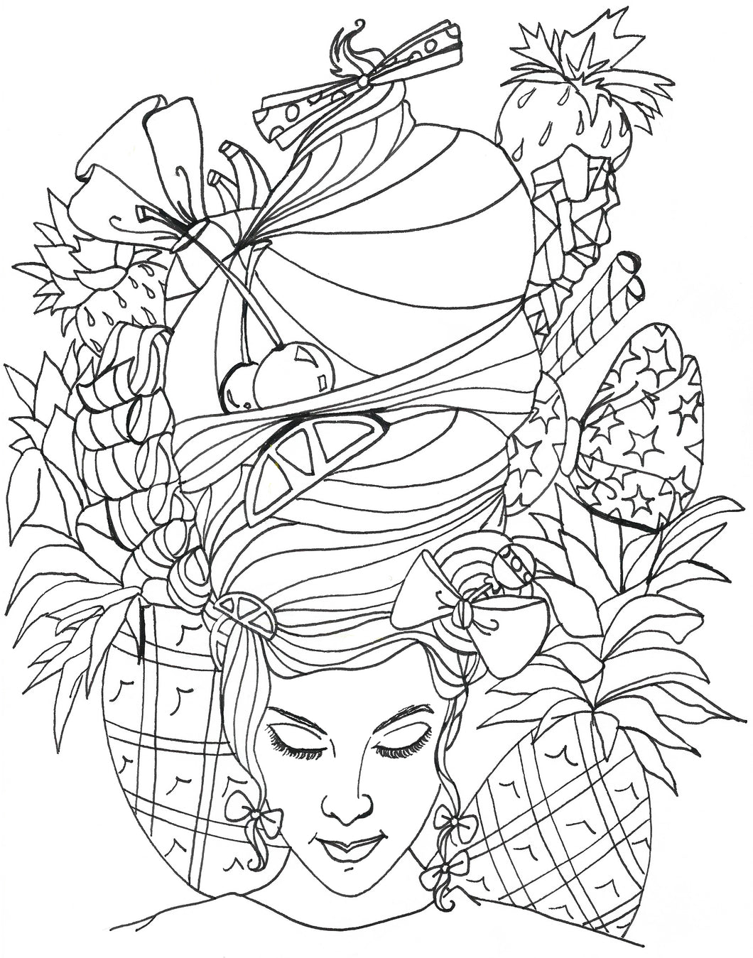 Fruitful Coloring Page