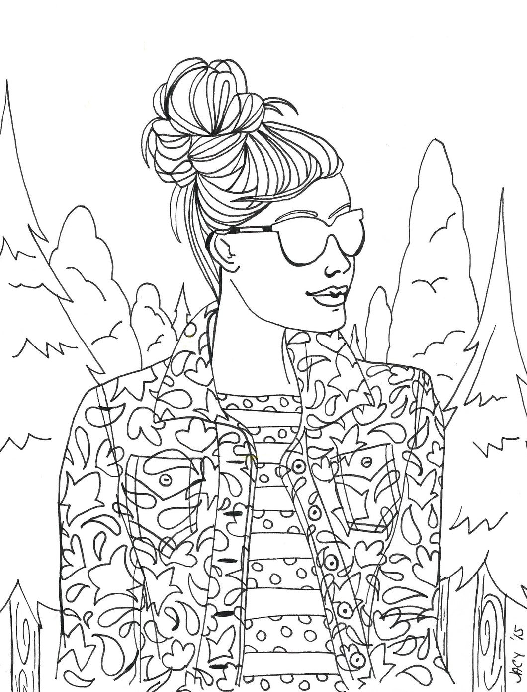 Wildfire Coloring Page