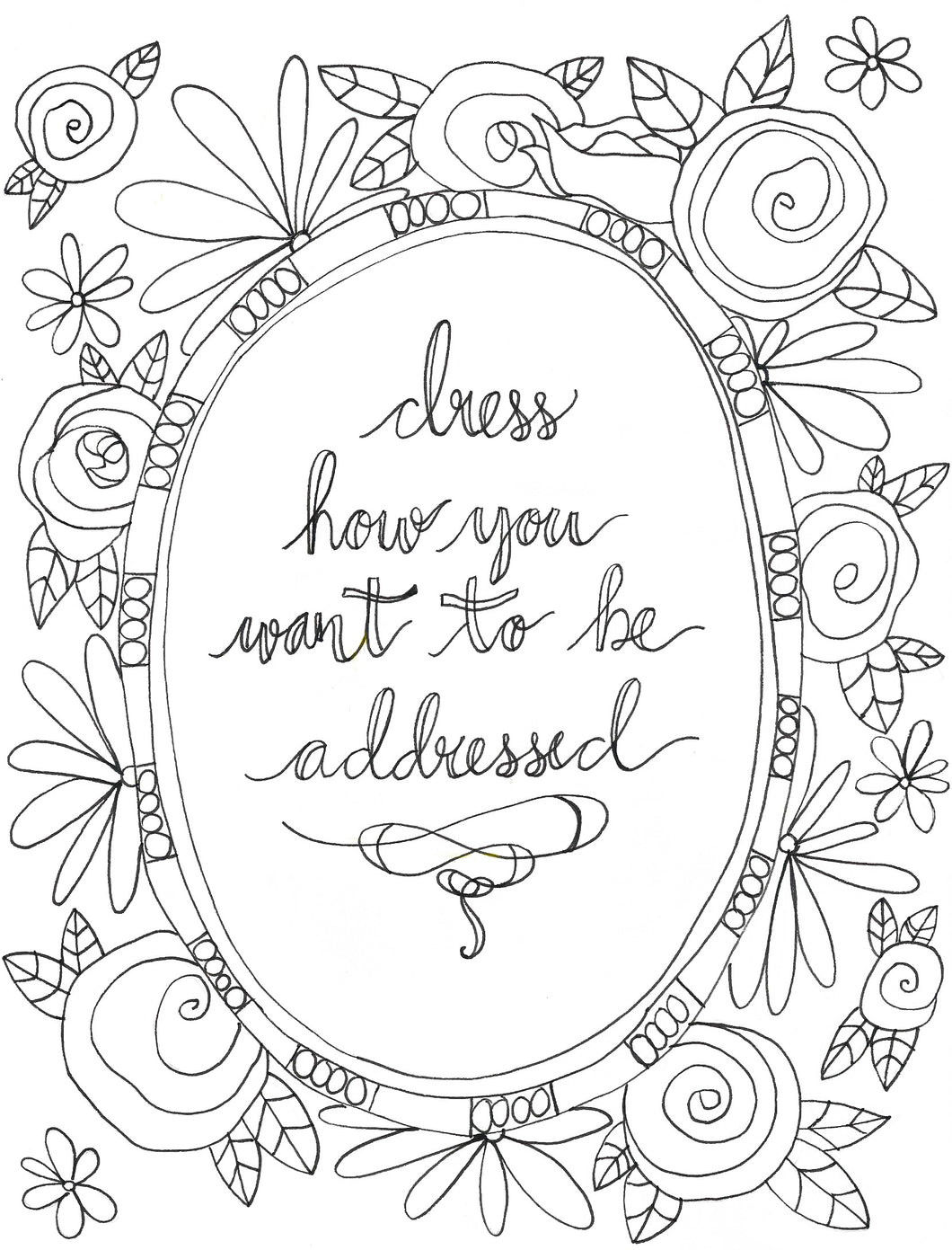 Addressed Quote Coloring Page